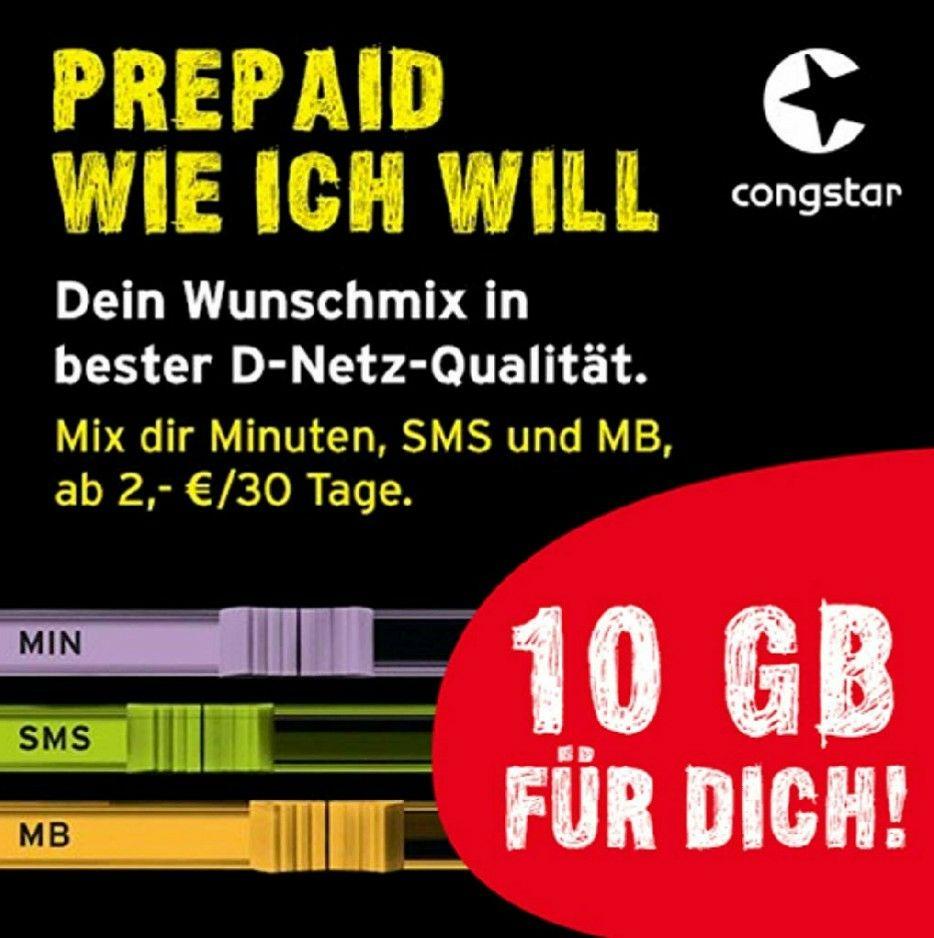 10 GB im Telekom-Netz (3G, gültig 30 Tage) bei SIM-Kartenaktivierung bis 28.04.2019