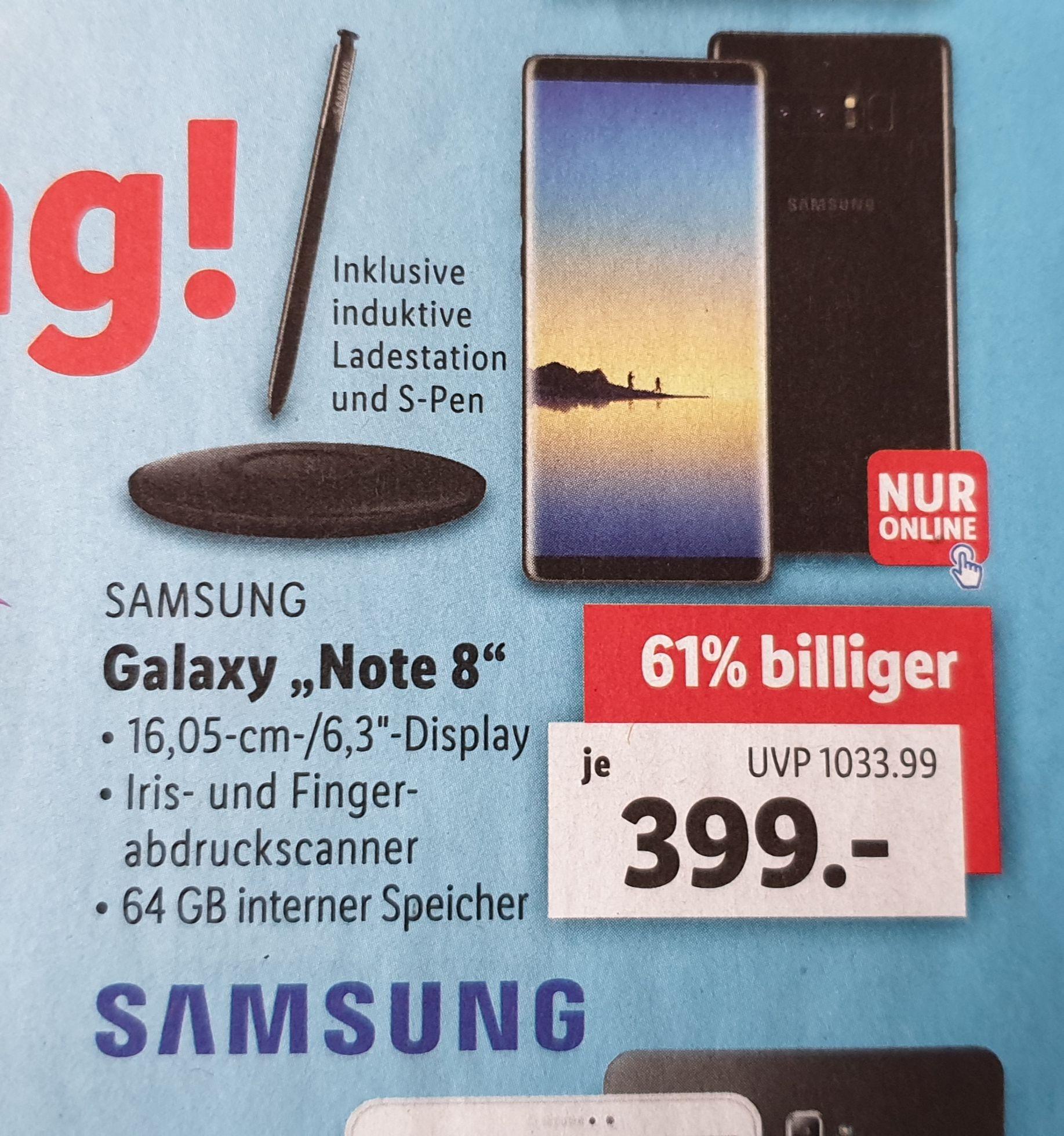 Samsung Galaxy Note 8 + Induktive Ladestation [Lidl]