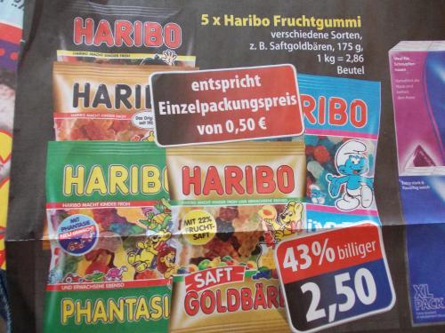 Haribo, verschiedene Sorten, 5 Packungen für 2,50€  Lokal @Edeka Dresden bzw Sachsen!