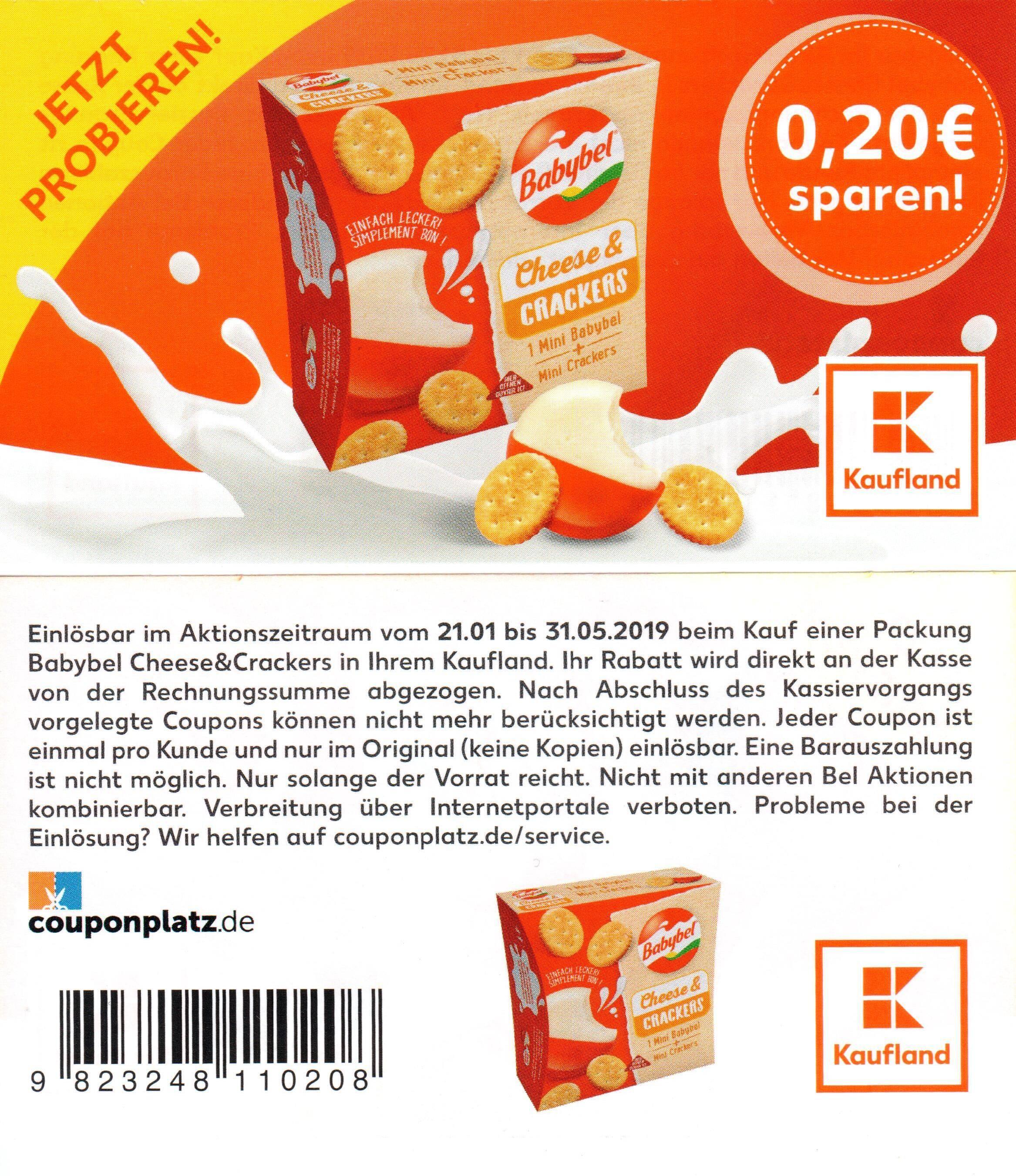 kaufland neuer 0 40 coupon f r mini babybel bio und 0 20 coupon f r babybel cheese. Black Bedroom Furniture Sets. Home Design Ideas