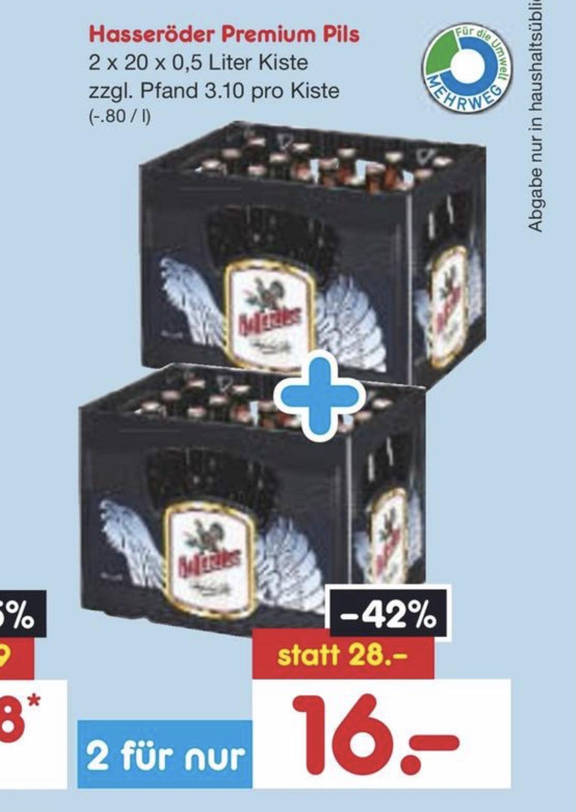 Hasseröder Premium Pils (2 x 20 x 0,5l)