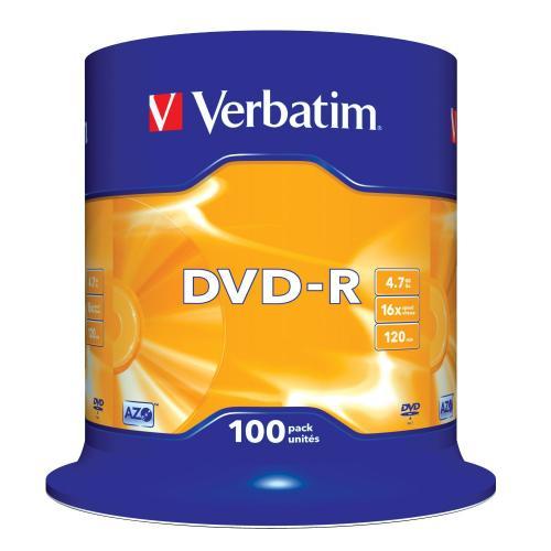 Verbatim DVD-R 4.7GB 16x, 100er Spindel