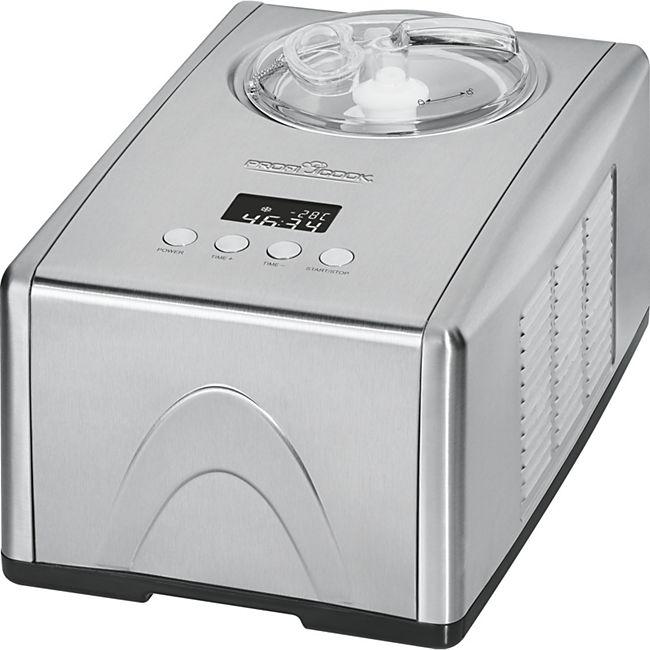 """Profi Cook Eismaschine """"PC-ICM 1091"""" (Für Speiseeis, Frozen Joghurt und Sorbet, mit Kompressor, 1,5 L, 150 W, Edelstahl) [Netto-online.de]"""