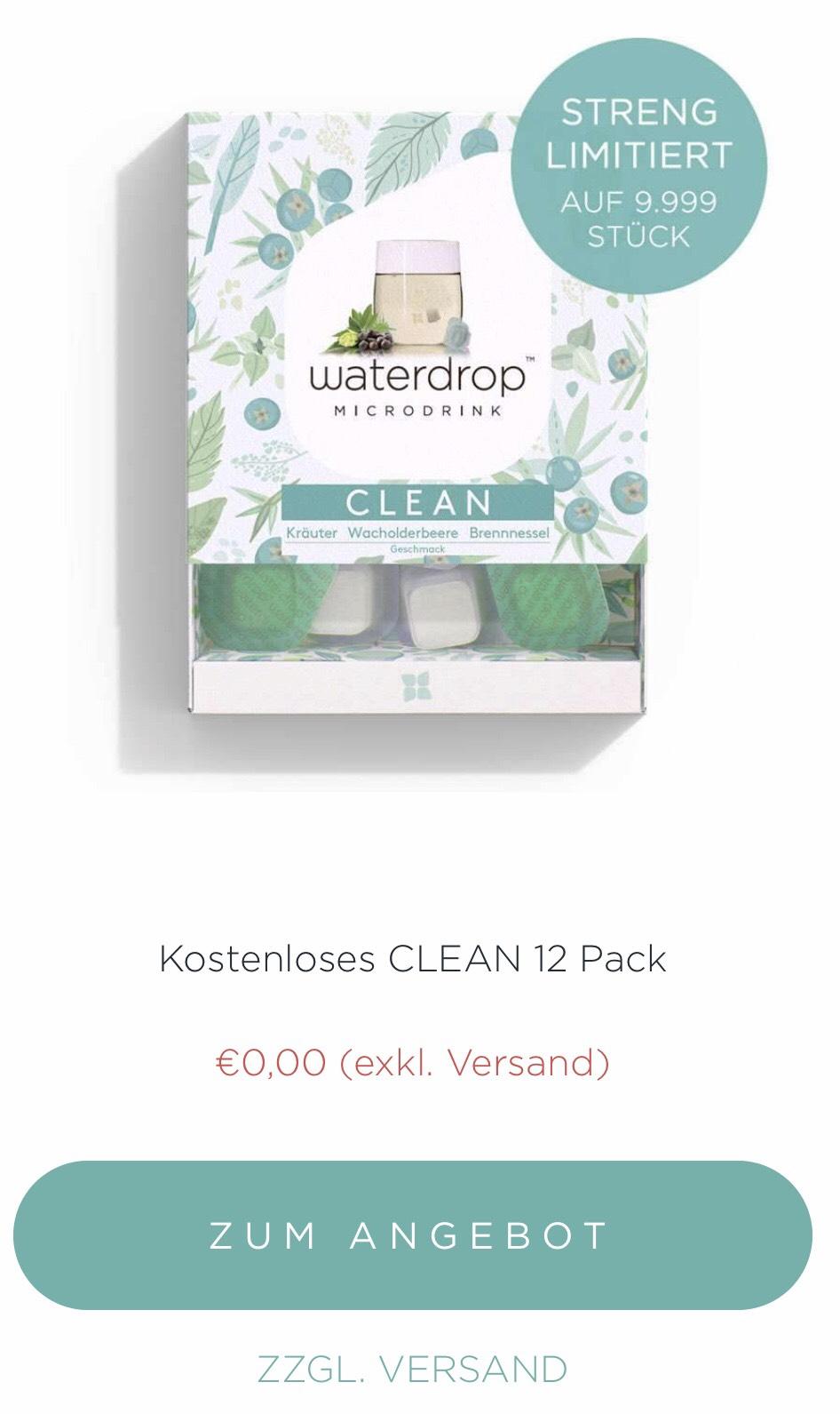 [Waterdrop] ab 0:00Uhr für alle (ab jetzt für Club Mitglieder - kostenlos) neuste Sorte CLEAN für 0€+Versand 4,90€
