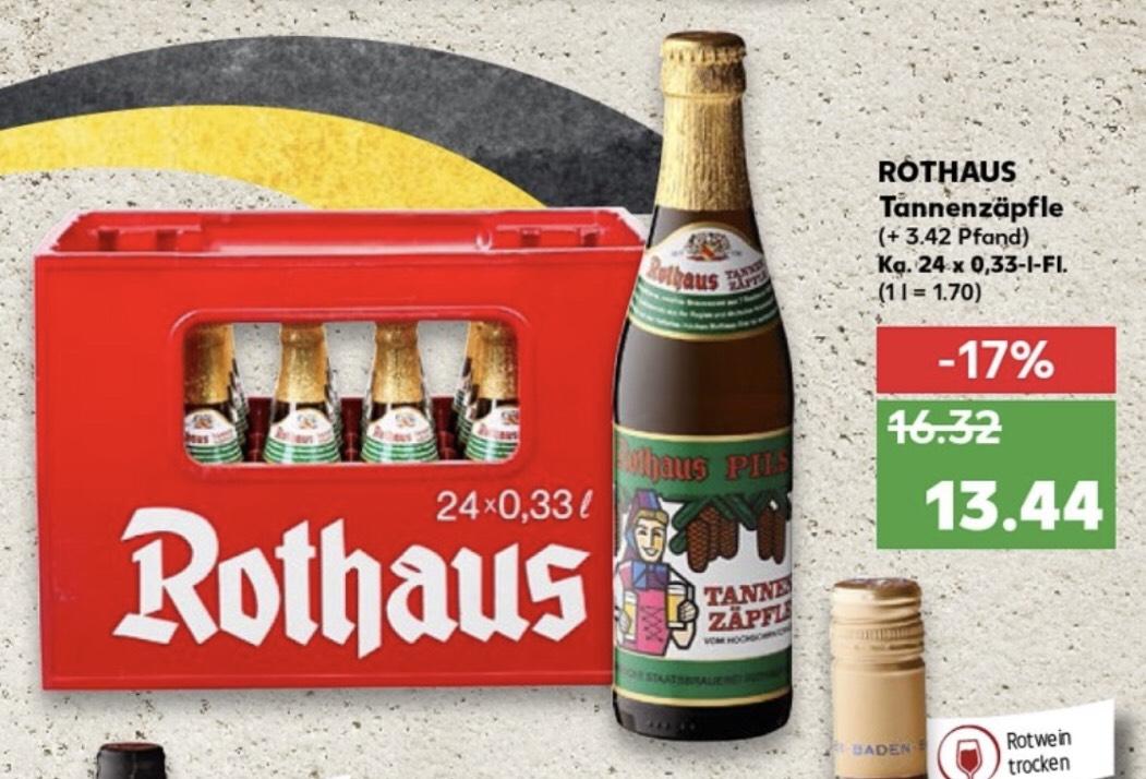 Rothaus Tannenzäpfle (24 x 0,33l) [Lokal - Heidelberg, Kaufland]