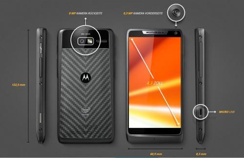 o2 Blue XS + Motorola Razr i für 288,76€ über 24 Monate bei Sparhandy