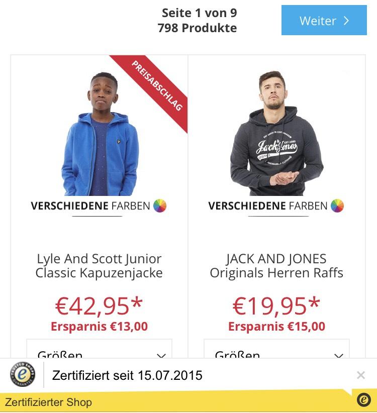 Großer Sale bei mandmdirect: Hoodies bis 70% reduziert - Jack & Jones für 11,95€