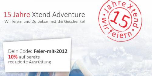 10% auf Xtend Adventure - auch auf bereits reduzierte Ware
