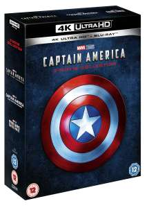Captain America: 1-3 Collection (4K Ultra HD + Blu-ray) für 43,12€ (Zoom.co.uk)