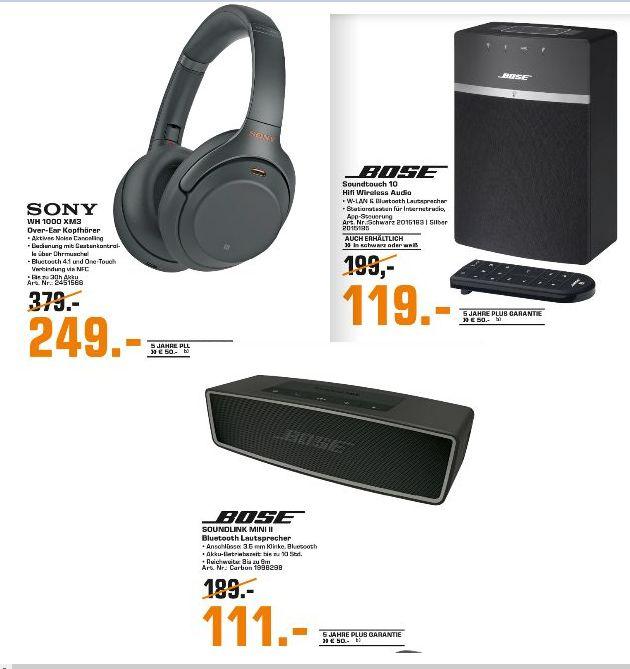 [Regional Saturn Dortmund-Lünen-Witten-Hamm] Sony WH-1000XM3 für 249,-€ / Bose SoundTouch 10 für 119,-€ / Sounlink Mini für 111,-€