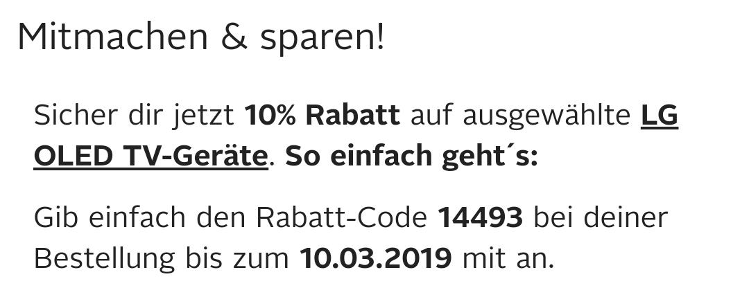 Otto - LG OLED 10% Rabatt Aktion