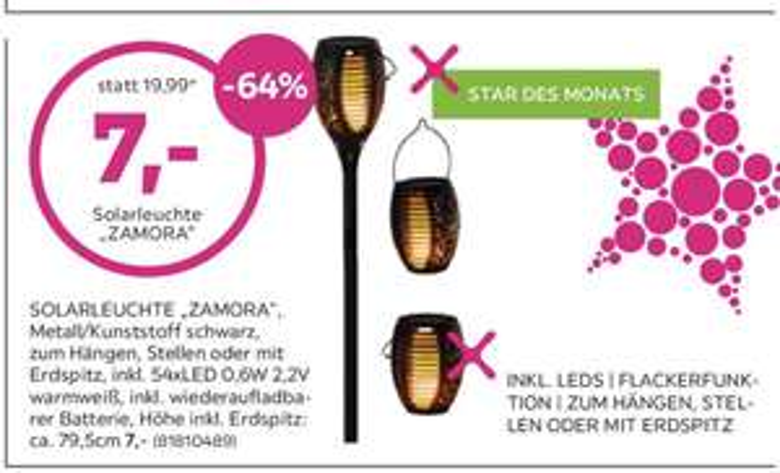 LED Fackel/ Solarleuchte bei Mömax