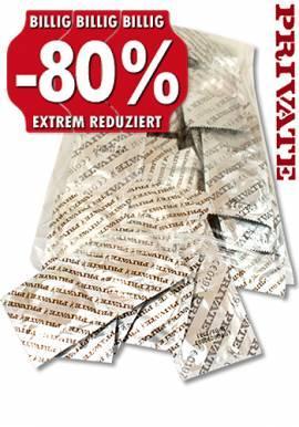 100 Kondome plus 4 Gratisartikel 8,85 Euro inkl. Versand bei Dildoking.de