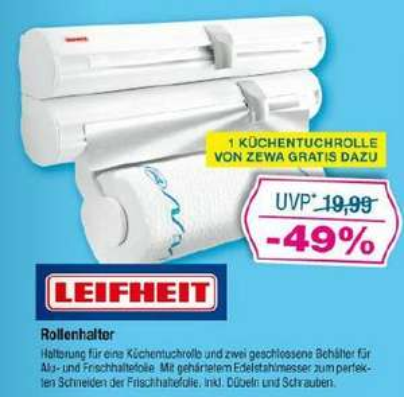 [OFFLINE] [Marktkauf] LEIFHEIT Rolly Mobil (3 facher Wandrolenhalter) inkl. 1x ZEWA Rolle