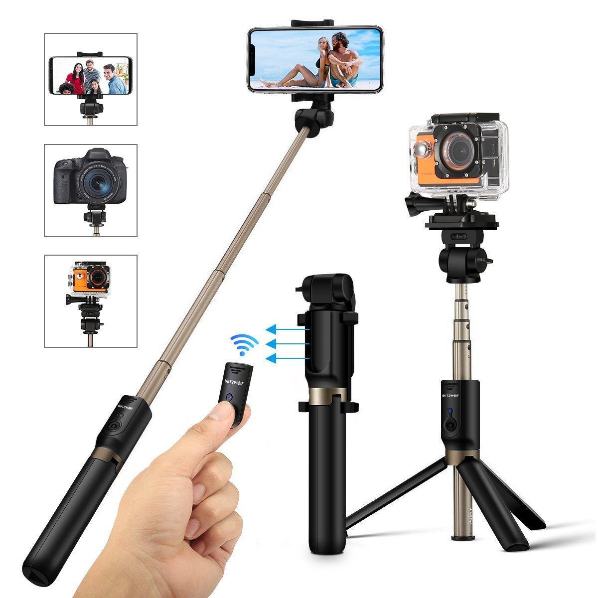 BlitzWolf BW-BS3 3 in 1 Bluetooth Tripod Selfie Stick