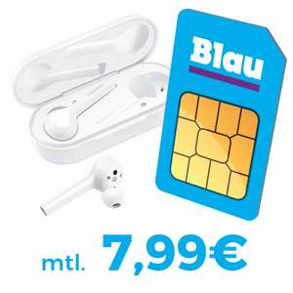 Blau Allnet L (3GB LTE, o2-Netz) für mtl. 7,99€ ohne AG + Huawei FreeBuds (Wert 100€) für 4,95€ Zuzahlung *UPDATE*