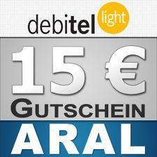 15€-Gutschein (ARAL, SATURN oder AMAZON) für 1,95€ bei Bestellung von debitel-light-SIM-Karte (wieder verfügbar!)