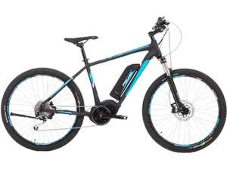 "FISCHER E-Bike Mountainbike  ""EM 1864-R1"" (27.5 Zoll, 48 cm, Trapez, 557 Wh, schwarz matt) [Media Markt]"