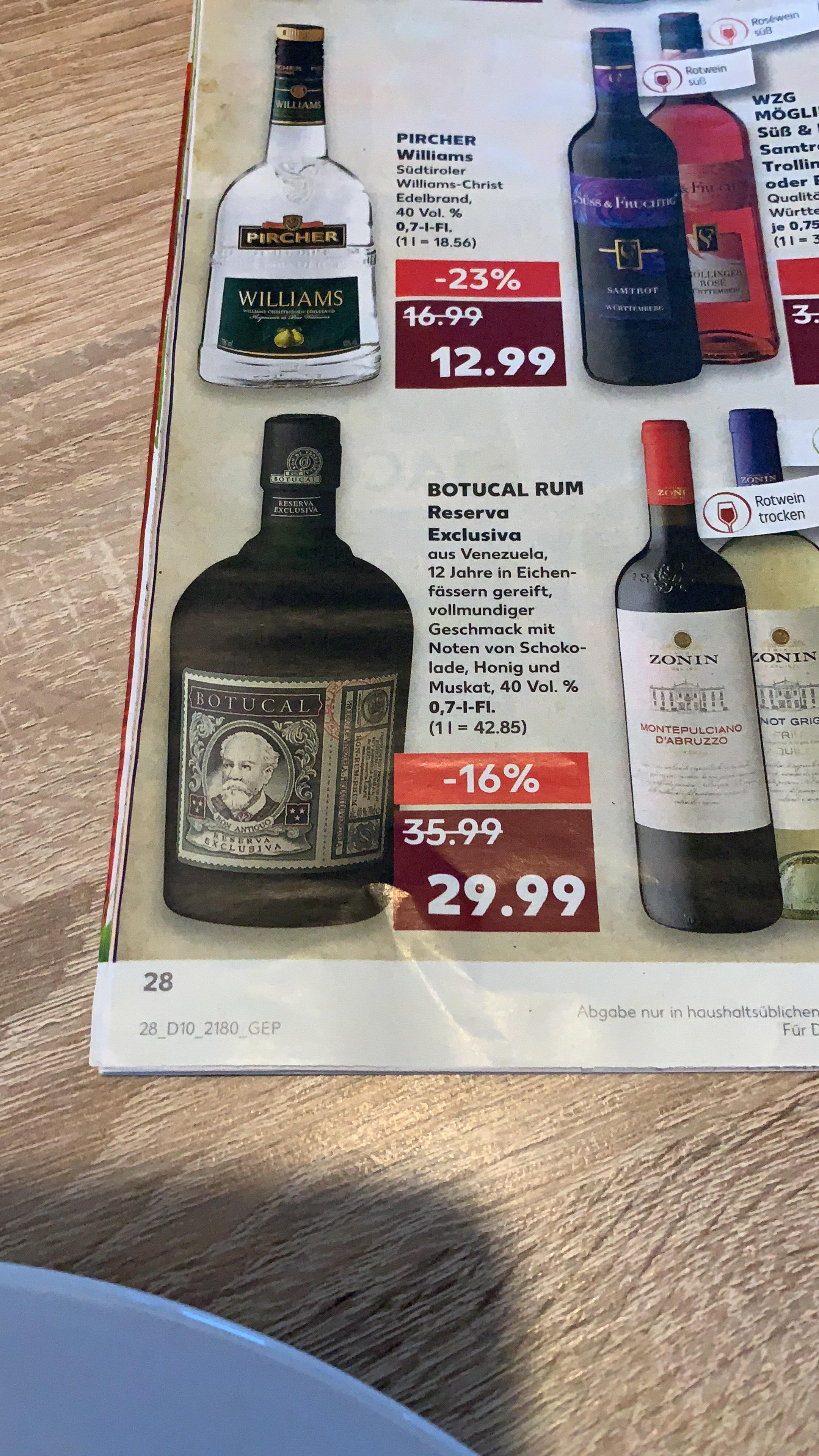 Botucal Rum im Angebot (Kaufland)