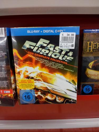 Real nur offline (bundesweit?) - Fast & Furious 1-5 (+Digital Copy) für 34,95 / DVD für 22,95