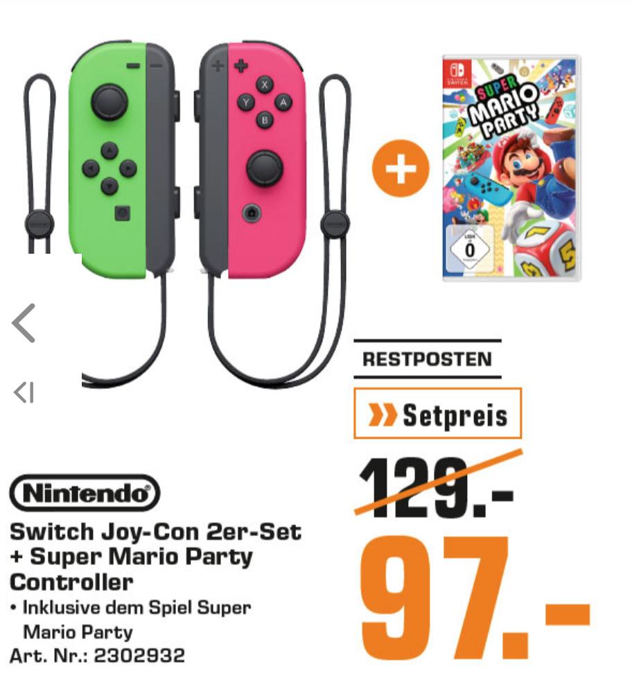 Super Mario Party + Joy-Con 2er Set Controller Switch [Saturn Duisburg]
