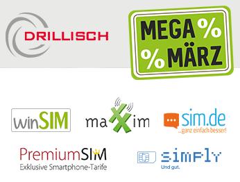 MEGA März bei Drillisch (Telefonica-Netz): 3 gratis Monate auf alle 24 Monatverträge bei winSIM, PremiumSIM, maXXim, simply und sim.de *UPDATE* jetzt ohne Anschlussgebühr bei allen Tarifen (mtl. kündbar + 24 Monatsvertrag)