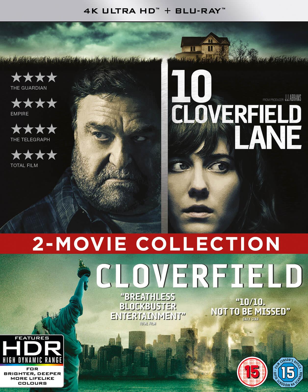 Cloverfield + 10 Cloverfield Lane (4K Blu-ray + Blu-ray) für 18€ (Zoom)