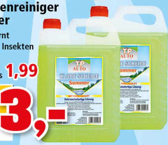Sommer-Scheibenreiniger 10 Liter für nur 3,00€ bei ( Thomas Philipps ab 15.03)