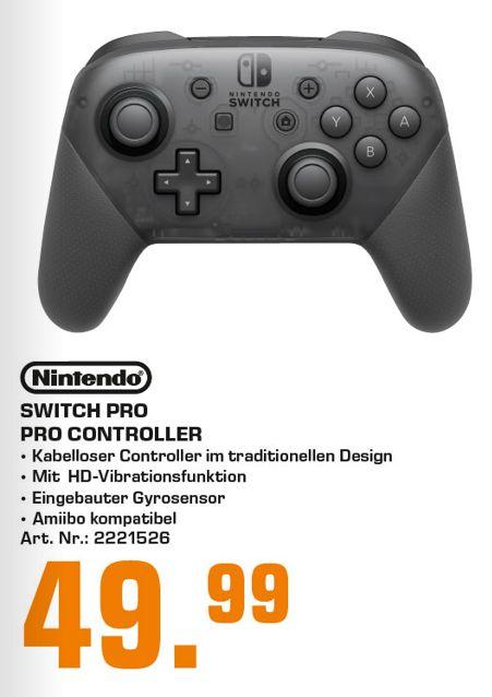 [Regional Saturn Düsseldorf] Nintendo Switch Pro Controller grau für 49,99€