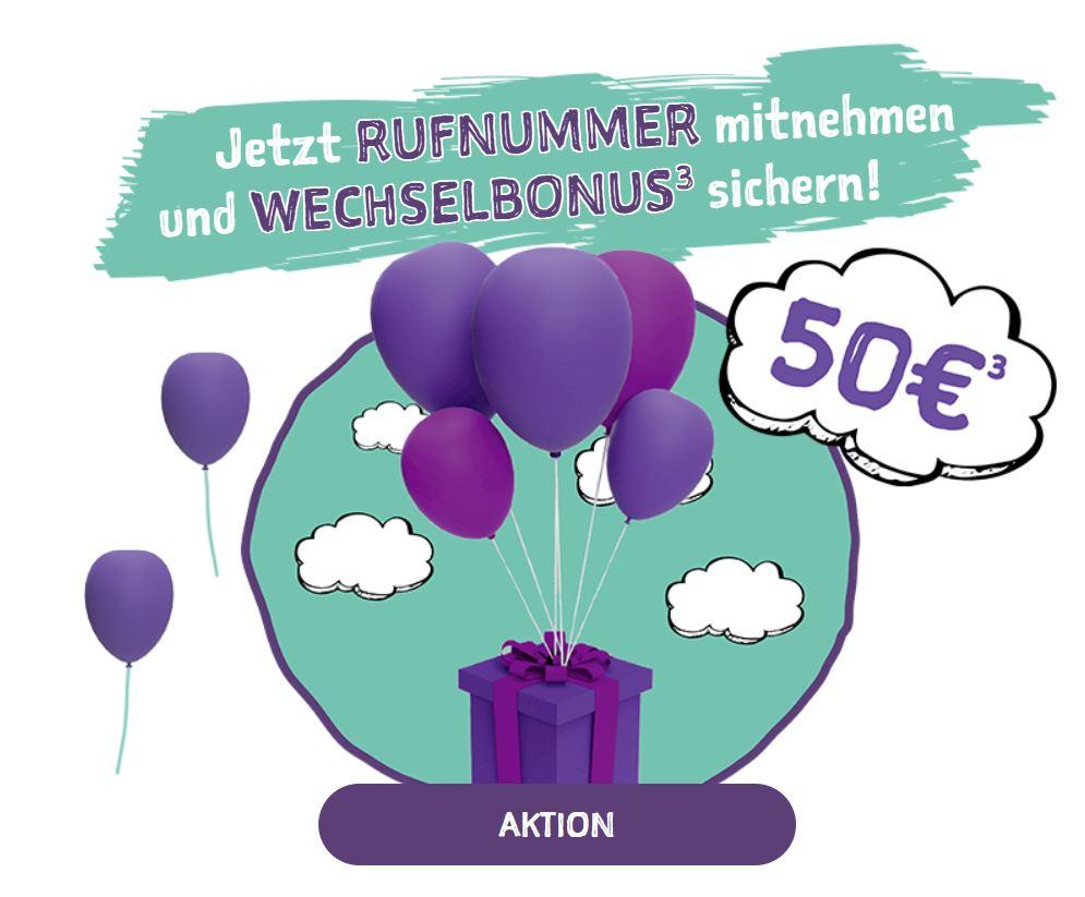 50€ Wechselbonus + 15€ Auflade-Voucher bei NORMA Connect