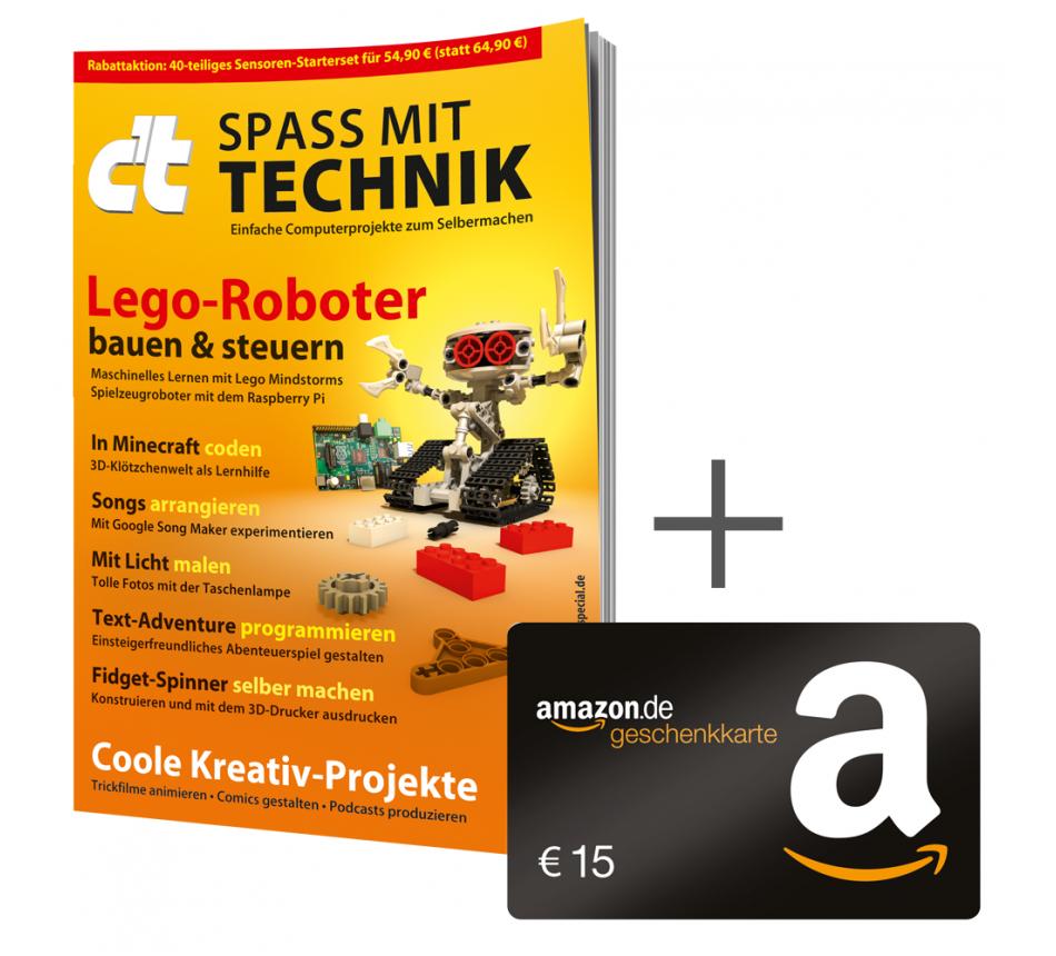 c't: 6 Ausgaben wahlweise mit 15€ Amazon-Gutschein, Raspberry Pi Zero WH oder USB-Stick plus Sonderheft Technik oder Windows (iW.v. 12,90 €)
