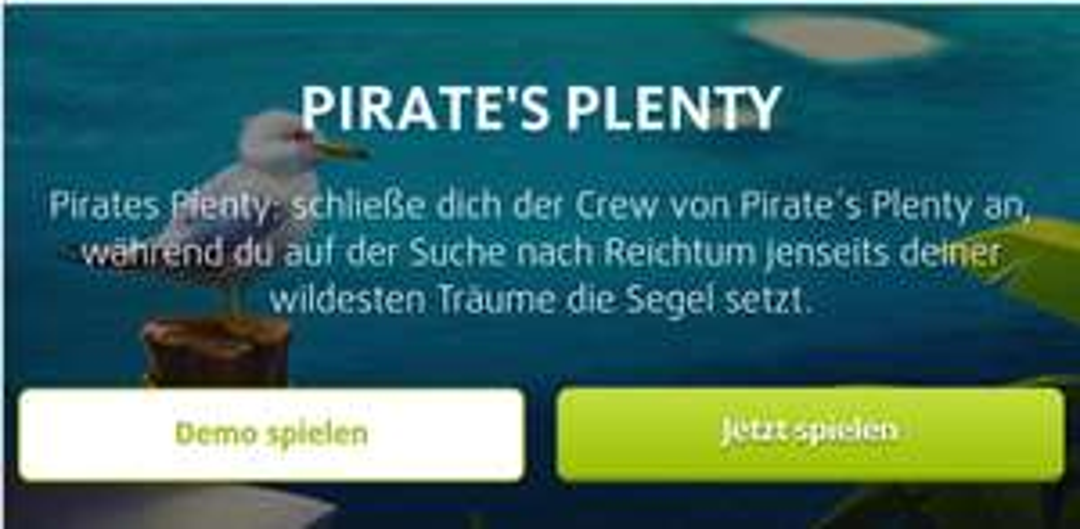 [Lottoland] 10 Freispiele für Pirates Plenty im 'Newsletter'