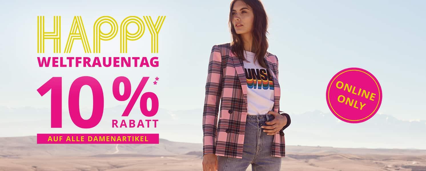 8ca9d8e28e1344 Happy Weltfrauentag  Auch bei Peek-cloppenburg mit 10% auf Damenprodukte