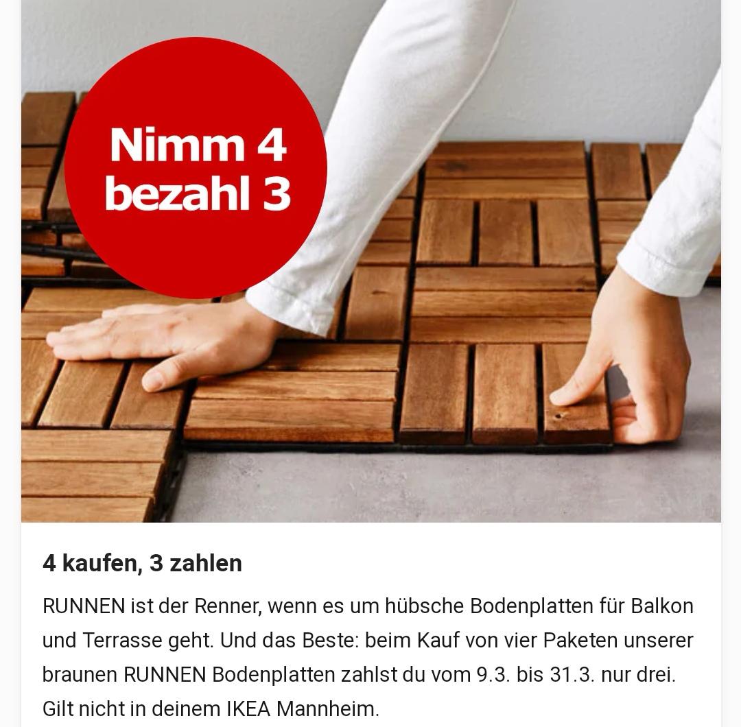 Ikea Runnen Bodenfliesen - Kauf 4 Zahl 3