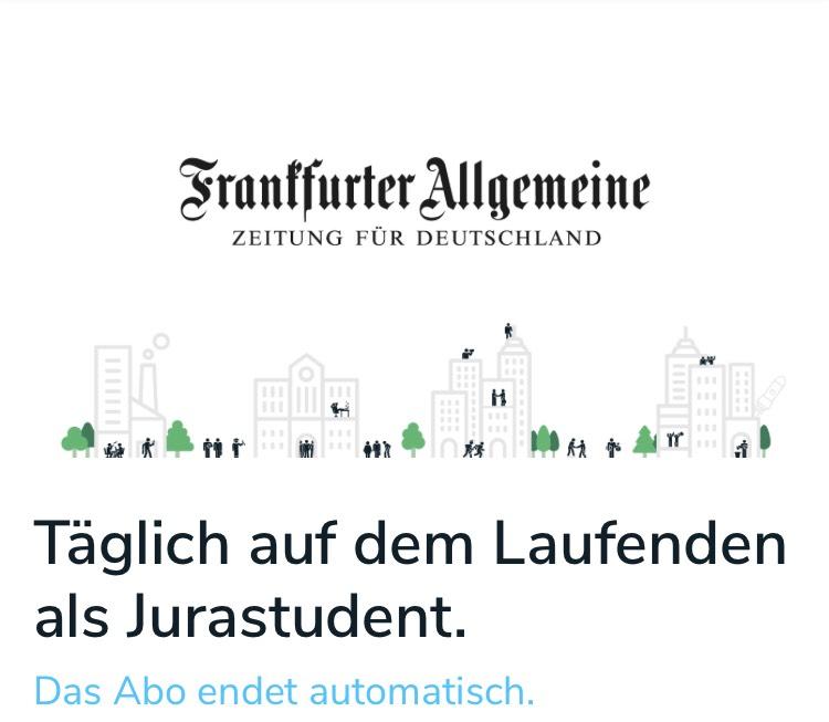 FAZ EPAPER Abo 1 Jahr gratis über talentrocket.de