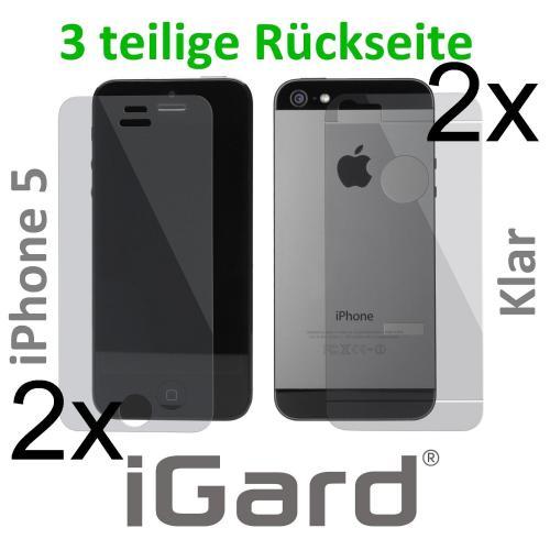 [Amazon] 4 x iPhone 5 Schutzfolie (3 teilige Rückseite) für nur 1,50€