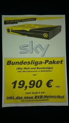 Sky Bundesliga Paket für 19,90€