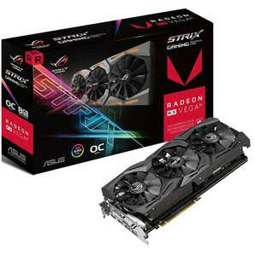 ASUS ROG Strix Radeon RX Vega 56 OC 8GB HBM2 Gaming Grafikkarte inkl. Resident Evil 2, Devil May Cry 5 & The Division 2