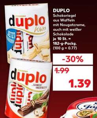 Kaufland - Nur am Sa.16.03 - Duplo 1,39 / Hohes C 1,5L 1,44 / Zott Joghurt 0,25 / Ananas 1,29