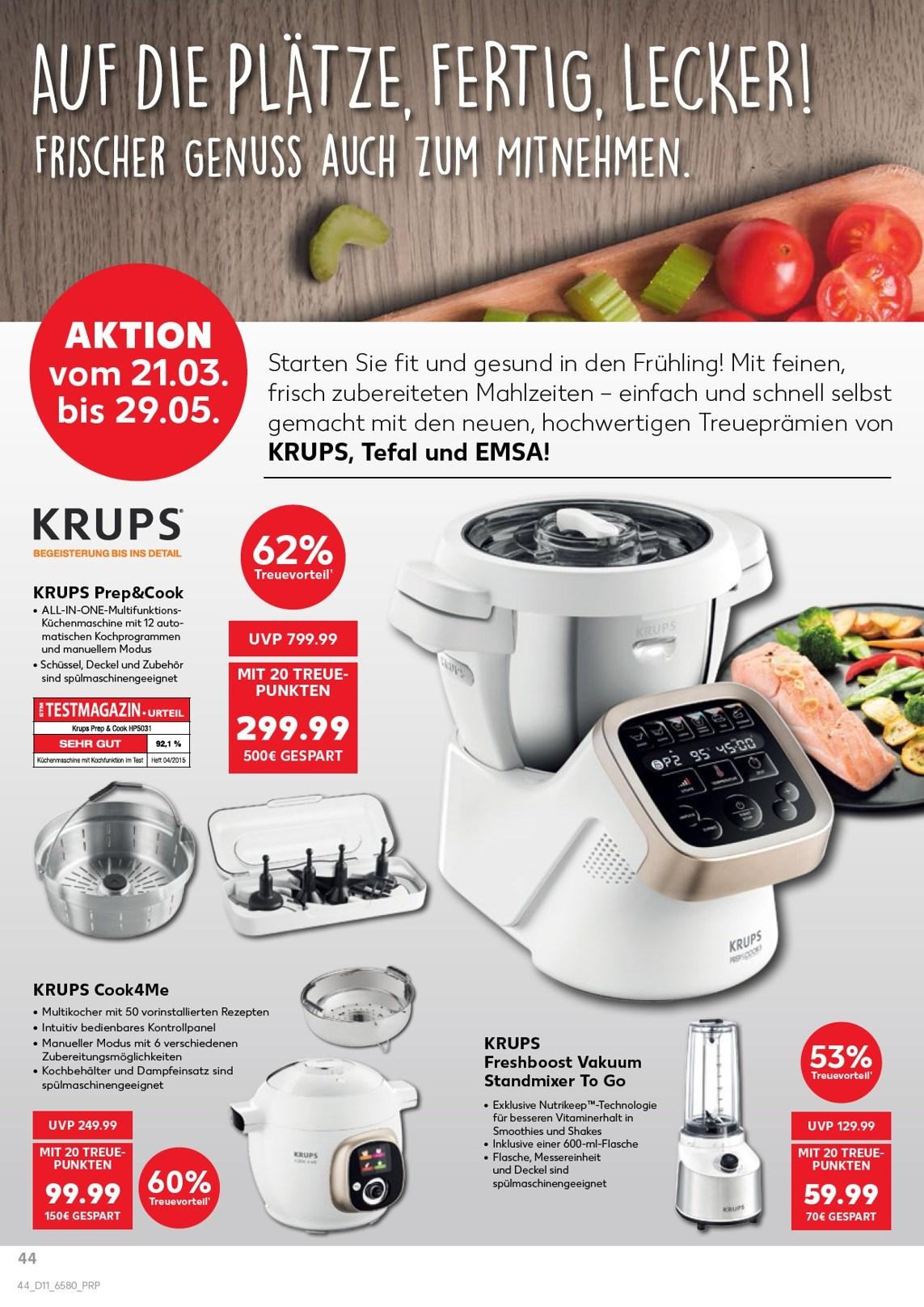 [Kaufland-Treueaktion] Krups Prep&Cook HP5031 Multifunktions-Küchenmaschine