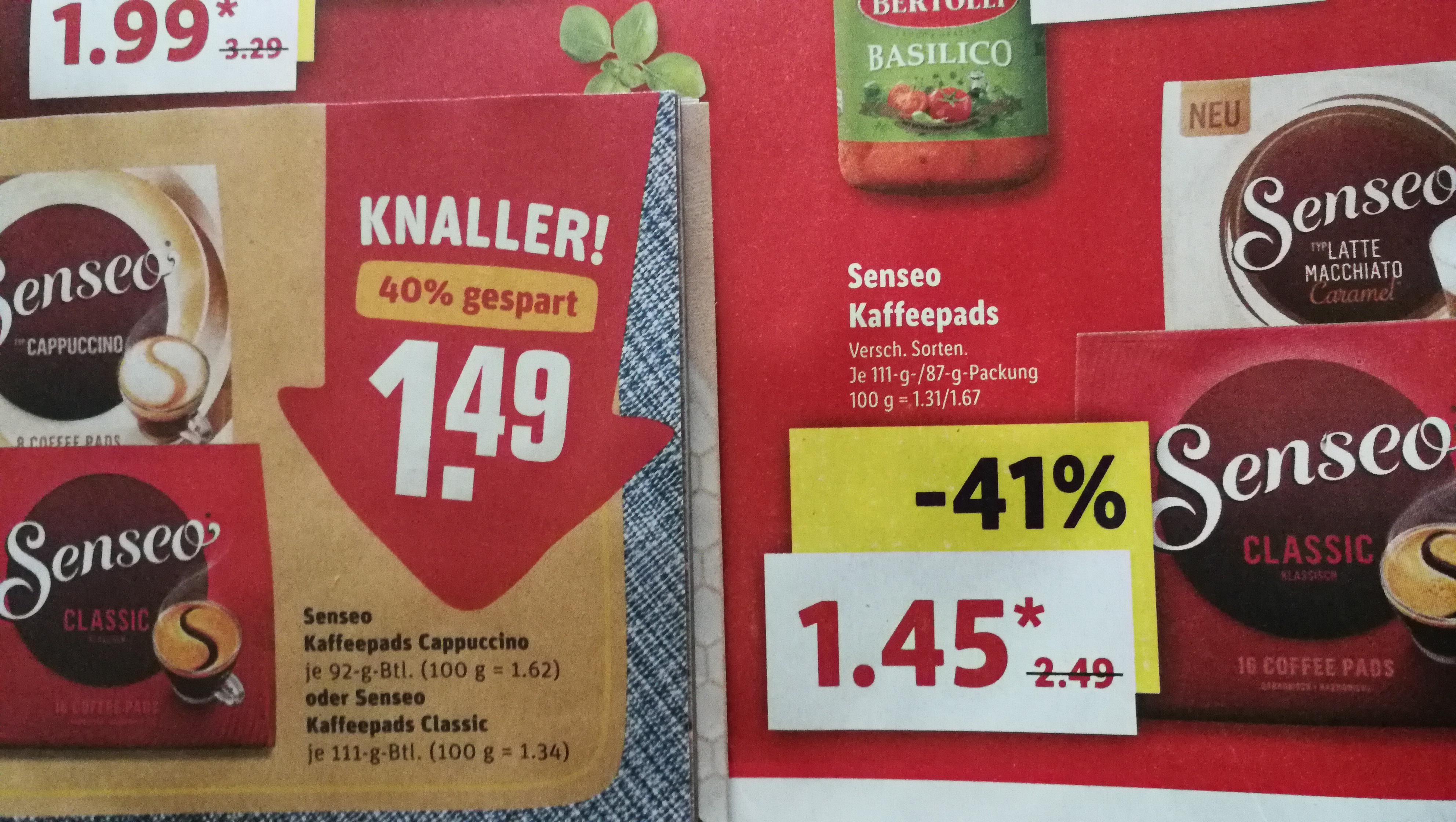 LIDL & REWE lokal (Bundesweit?) Senseo Pads