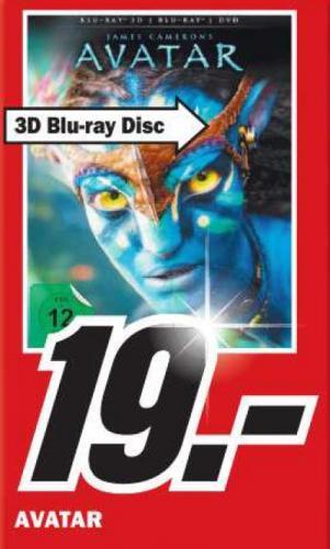 [Lokal Media Markt Bremerhaven] Avatar 3D 19€ / andere BR günstig für 12€ (z.B. MIB3) und 14€ (z.B. The Avangers, E.T.)