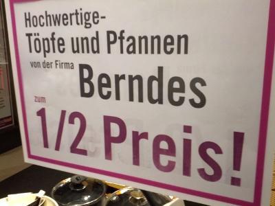 LOKAL @Müllerland Hennef  *** Berndes Pfannen und Töpfe 50% reduziert