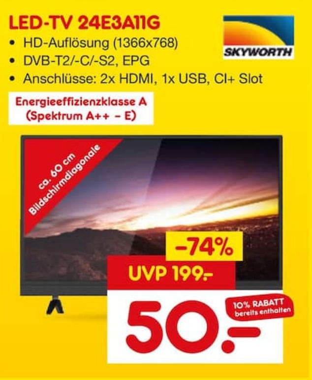 [LOKAL - Freiburg] Eröffnung Netto MD -  TV Skyworth 24E3A11G