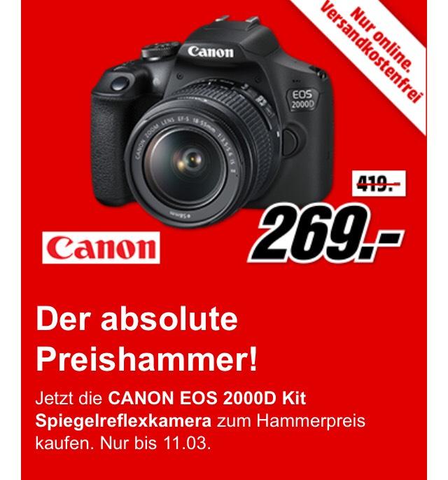 canon eos 2000d digitale spiegelreflexkamera mit 18 55mm objektiv 24 megapixel cmos f 3 5 5 6. Black Bedroom Furniture Sets. Home Design Ideas