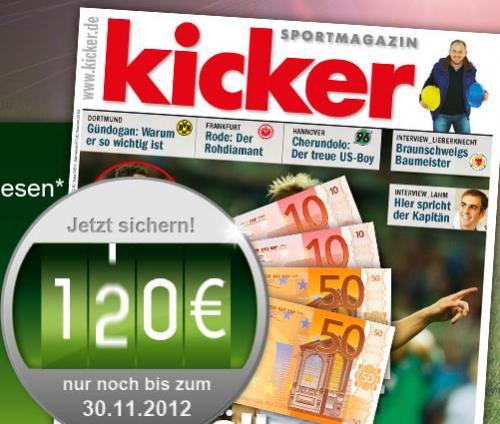 Kicker Jahresabonnement für effektiv 78€
