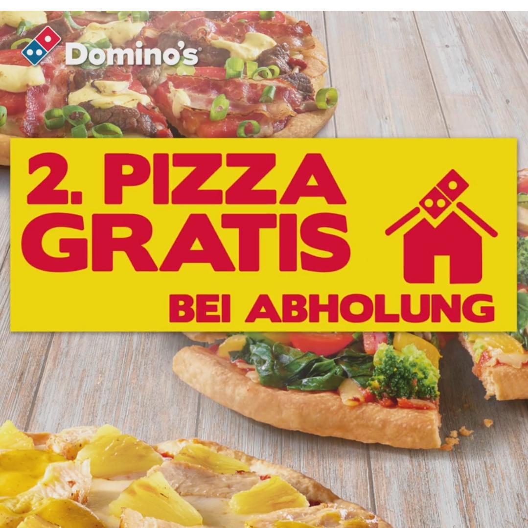 2 für 1 - Die günstigste Pizza gratis bei Abholung / 3 für 2 bei Lieferung [Domino's]