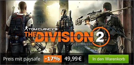 The Division 2 - 14%-20% Rabatt durch Zahlen mit PSC bis 15.03.19