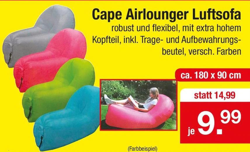 (Lokal) Air Lounger in vier Farben bei Zimmermann