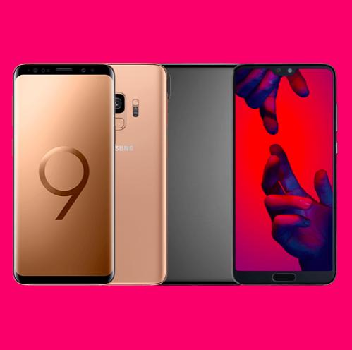 Telekom MagentaEINS Mobil S Young (8GB LTE) inkl. Samsung Galaxy S9 (64GB, Dual-SIM, 4,99€) od. Huawei P20 Pro (128GB, Dual-SIM, 49€)